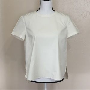 Theory Henriikka Light Poplin White Top